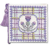 Click for more details of Tartan Thistles Needlecase (cross stitch) by Textile Heritage