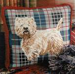 Click for more details of Tartan Westie (tapestry) by Glorafilia