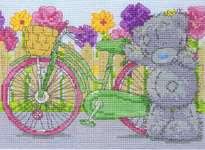 Click for more details of Tatty Teddy - Spring Cycle (cross stitch) by DMC Creative