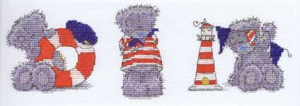 Click for more details of Tatty Teddy - Three Little Sailors (cross stitch) by DMC Creative