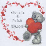 Click for more details of Tatty Teddy Wedding Heart (cross-stitch kit) by Anchor