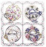 Click for more details of Tea Cup Sampler (cross stitch) by Stoney Creek