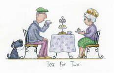 Click for more details of Tea for Two (cross stitch) by Peter Underhill