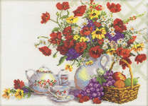 Click for more details of Tea Party in the Garden (cross stitch) by RTO