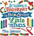 Click for more details of Teachers Have A Big Heart (cross stitch) by Imaginating