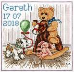 Click for more details of Teddy Birth Sampler (cross stitch) by Anchor