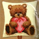 Click for more details of Teddy Cushion Front (tapestry) by Vervaco