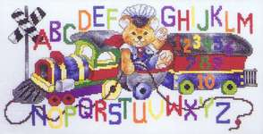 Click for more details of Teddy's Alphabet Train (cross stitch) by Stoney Creek