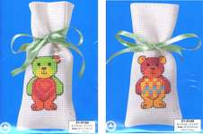 Click for more details of Teddy Sachets (cross stitch) by Permin of Copenhagen