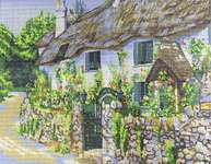 Click for more details of Thatched Cottage (tapestry) by Grafitec
