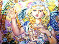 Click for more details of The angel of a shining diamond. (limited edition print) by Yumi Sugai