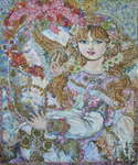 Click for more details of The angel of the pink Christmas rose. (limited edition print) by Yumi Sugai