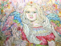 Click for more details of The angel of the ruby. (limited edition print) by Yumi Sugai