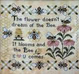 Click for more details of The Bee Comes (cross stitch) by Lila's Studio