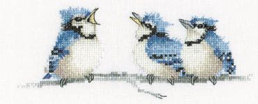 Click for more details of The Blues (cross stitch) by Valerie Pfeiffer