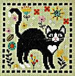 Click for more details of The Cat Came Back (cross stitch) by Tiny Modernist