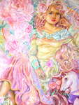 Click for more details of The fairy of the rose tulip of a sweet fragrance.  (limited edition print) by Yumi Sugai