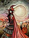 Click for more details of The Fanciful Witch (cross stitch) by Heaven and Earth Designs