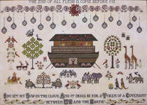 Click for more details of The Flood (cross stitch) by Plum Street Samplers
