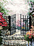 Click for more details of The Garden of Promise - Small (cross-stitch kit) by Thomas Kinkade