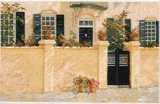 Click for more details of The Garden Wall (cross-stitch pattern) by Barbara & Cheryl