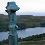 Click for more details of The Glenkiln Cross watches over the Reservoir (photograph) by Margaret Elliot
