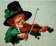 Click for more details of The Green Violin (cross stitch) by Nimue Fee Main