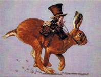 Click for more details of The Hare and the Postman (cross stitch) by Nimue Fee Main