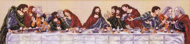 Click for more details of The Last Supper (cross stitch) by Stoney Creek