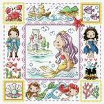Click for more details of The Little Mermaid (cross stitch) by Soda Stitch