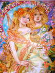Click for more details of The lovers of the angel of the spring. (limited edition print) by Yumi Sugai