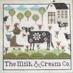 Click for more details of The Milk & Cream Co. (cross stitch) by Plum Street Samplers