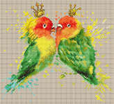 Click for more details of The Parrots (cross stitch) by Luca - S
