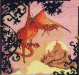 Click for more details of The Red Dragon (cross stitch) by Nimue Fee Main