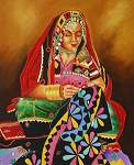 Click for more details of The soul of Rajasthan- the spirit of woman (oil on board) by ragunath