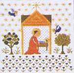 Click for more details of The Virgin Mary (cross stitch) by Haandarbejdets Fremme