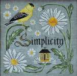 Click for more details of There is Beauty in Simplicity (cross stitch) by Cottage Garden Samplings