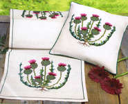 Click for more details of Thistle Cushion (cross stitch) by Eva Rosenstand