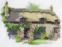 Click for more details of Thornton Le Dale Cottage (cross stitch) by Rose Swalwell