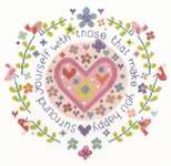 Click for more details of Those That Make You Happy (cross stitch) by DMC Creative