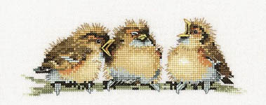 Click for more details of Three's a crowd (cross stitch) by Valerie Pfeiffer