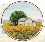 Click for more details of Thumbnail Sunflowers (cross stitch) by Oven Company