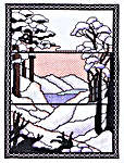 Click for more details of Tiffany Window - Snow (cross stitch) by Barbara Thompson
