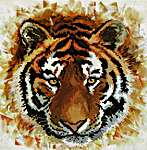 Click for more details of Tiger Charge (no-count cross stitch) by Needleart World
