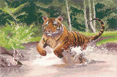 Click for more details of Tiger (cross stitch) by John Clayton
