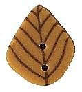 Click for more details of Tiny Golden Leaf Button (beads and treasures) by Just Another Button Company