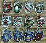 Click for more details of Tiny Mittens (cross stitch) by Frony Ritter Designs