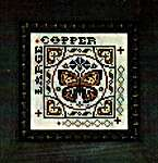 Click for more details of Tiny Tile - Large Copper (Tellin Emblem) (cross stitch) by Tellin Emblem