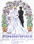 Click for more details of To Love, Honor and Cherish (cross stitch) by Janlynn