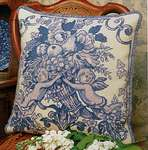 Click for more details of Toile de Jouy Blue (tapestry) by Glorafilia